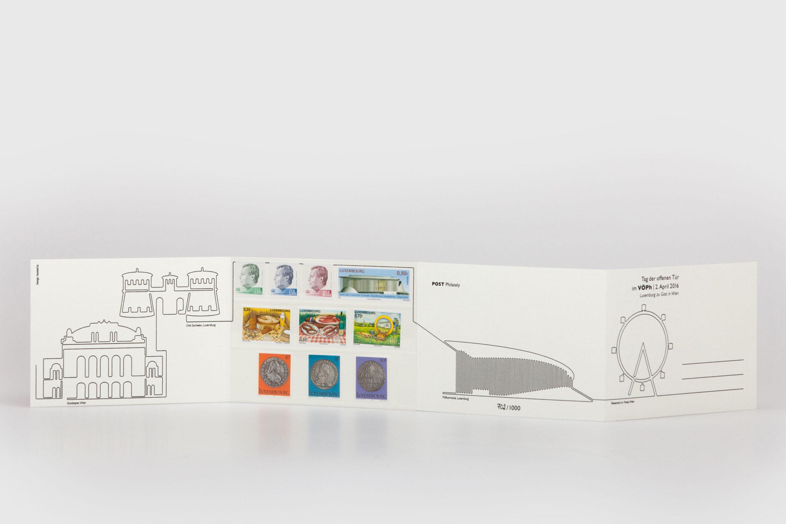 Philately Postkarte